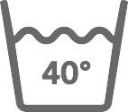40° 'de yıkanabilir