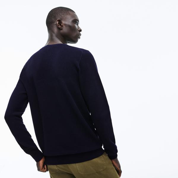 Lacoste Men's Crew Neck Cotton Piqué Sweater