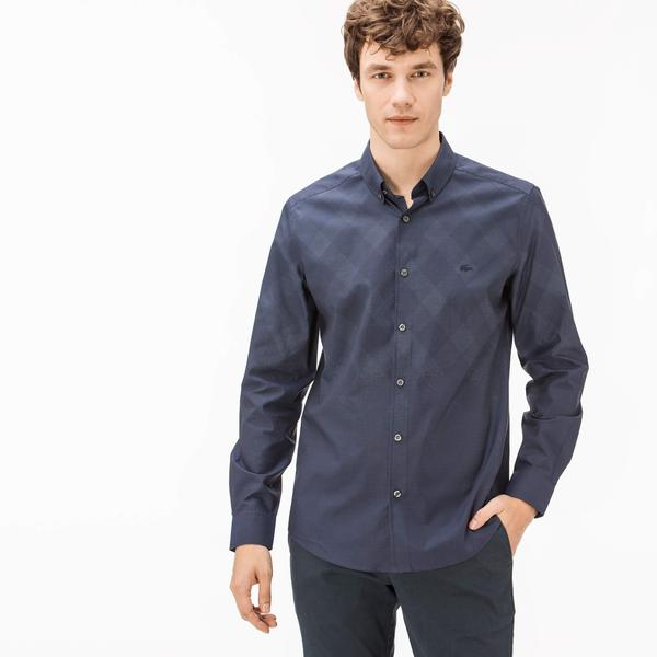 Lacoste Men's Slim Fit Plaid Shirt