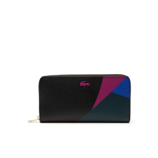Lacoste Women's Chantaco Fantaisie Colorful Wallet