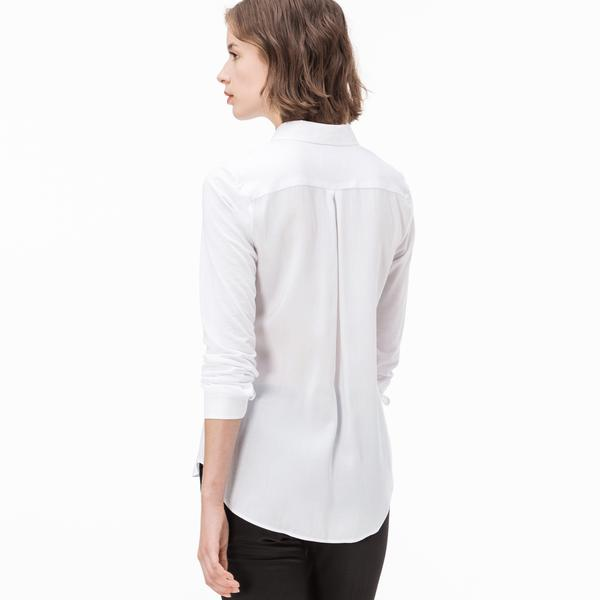 Lacoste Women's Long Sleeve Woven Shirt