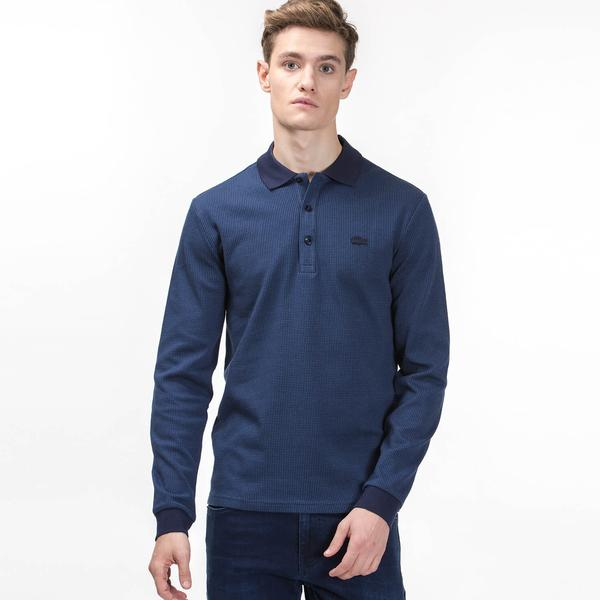 Lacoste Men's Long Sleeve Slim Fit Polo