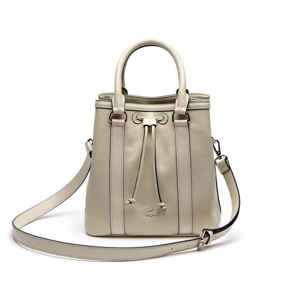 Lacoste Women's Leather Cream Bag