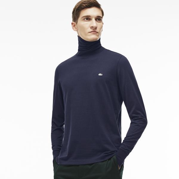 Lacoste Men's Turtleneck Cotton T-Shirt