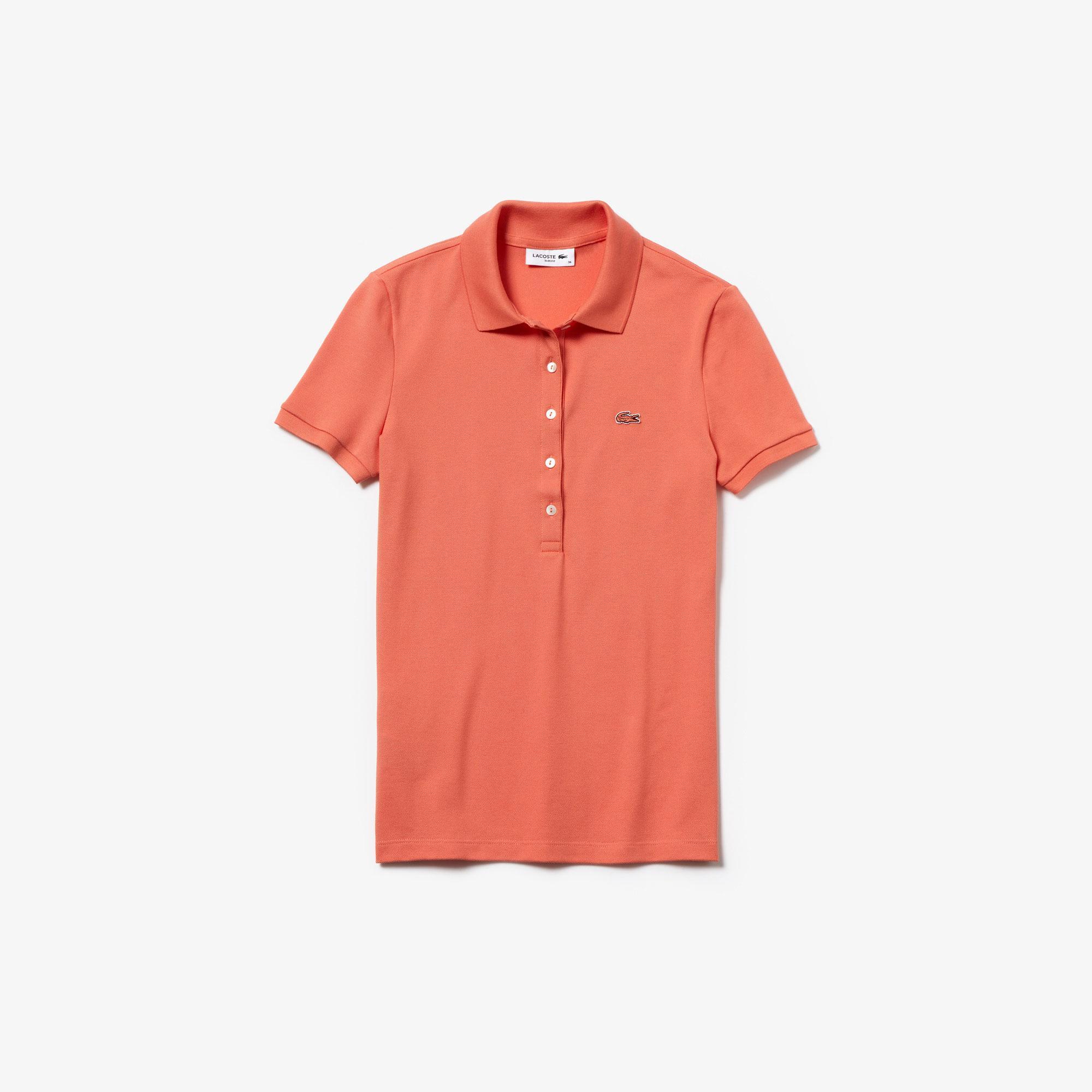 Lacoste Women's Slim Fit Stretch Mini Cotton Piqué Polo