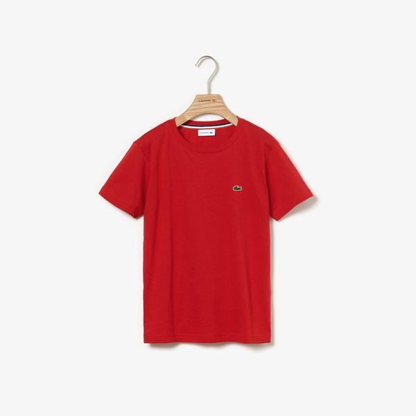 Lacoste Boy's Crew Neck Cotton Jersey T-Shirt