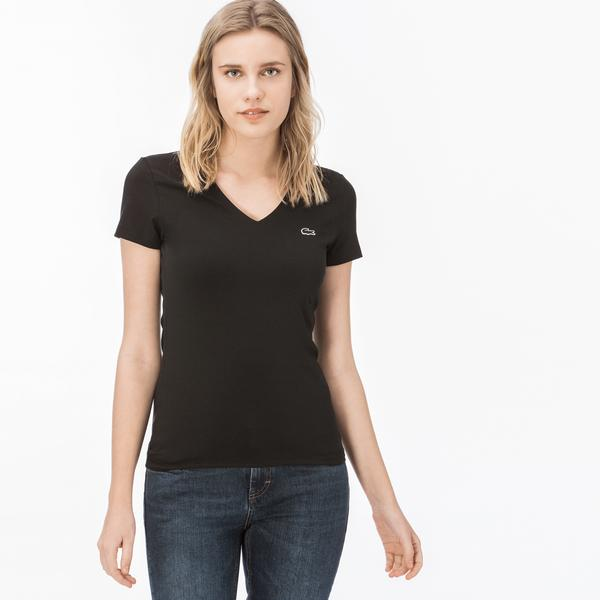 Women's Lacoste V-Neck T-Shirt