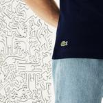 Lacoste X Keith Haring Print Men's Crew Neck Regular Fit T-Shirt