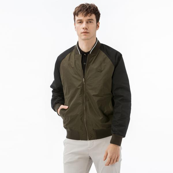 Lacoste Men's Lightweight Texturized Cotton Bomber
