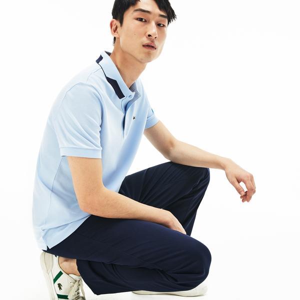 Lacoste Men's Short-Sleeve Regular Fit Unicolor Stretch Pima Cotton Piqué Polo