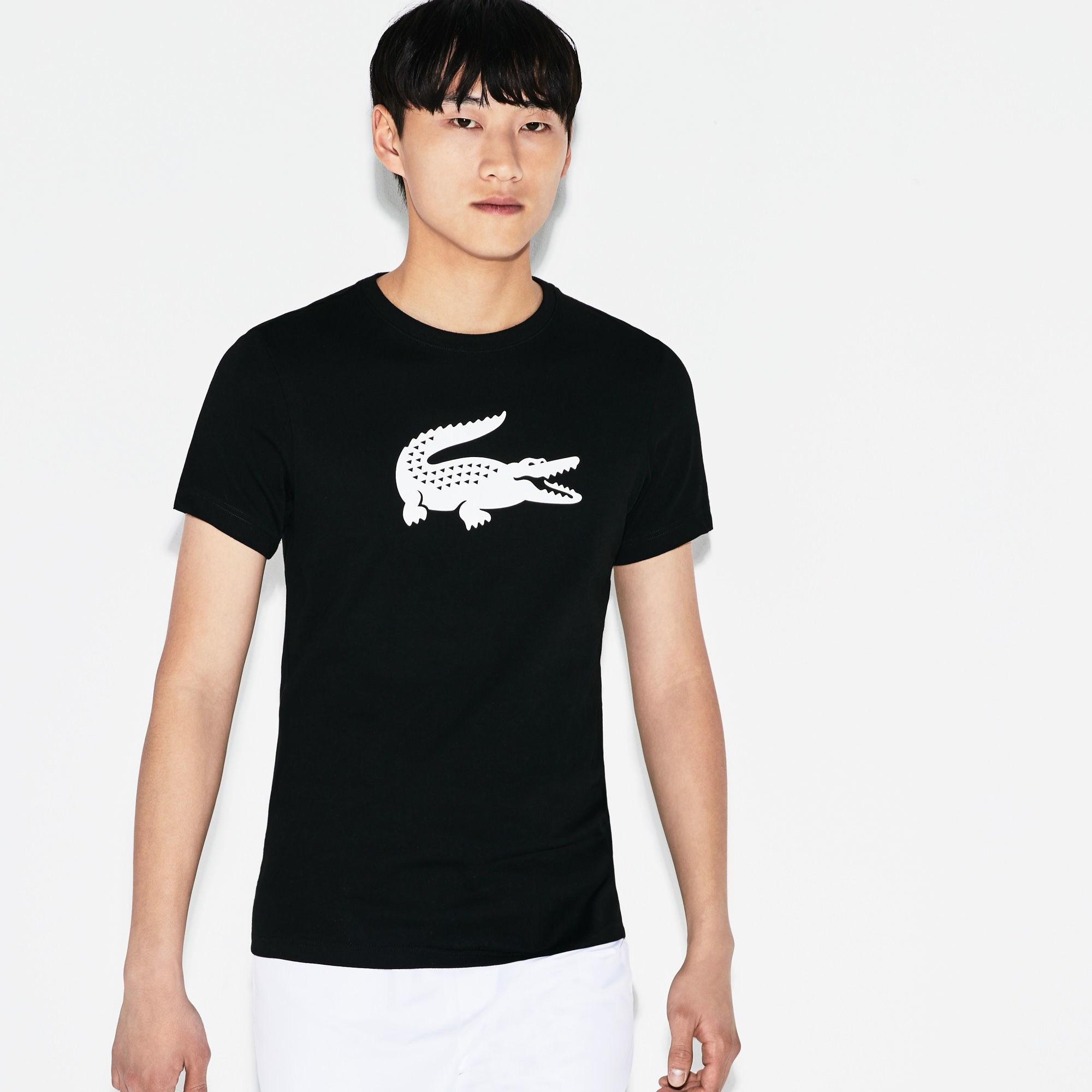 Lacoste Men's Sport Oversized Crocodile Technical Jersey Tennis T-Shirt