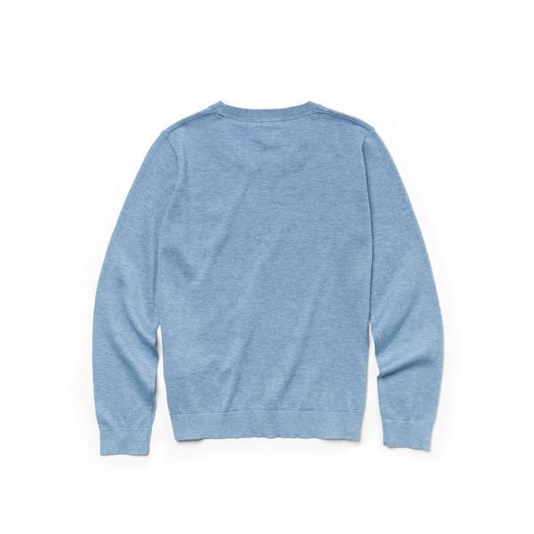 Lacoste Boys' Crew Neck Cotton Jersey Sweater