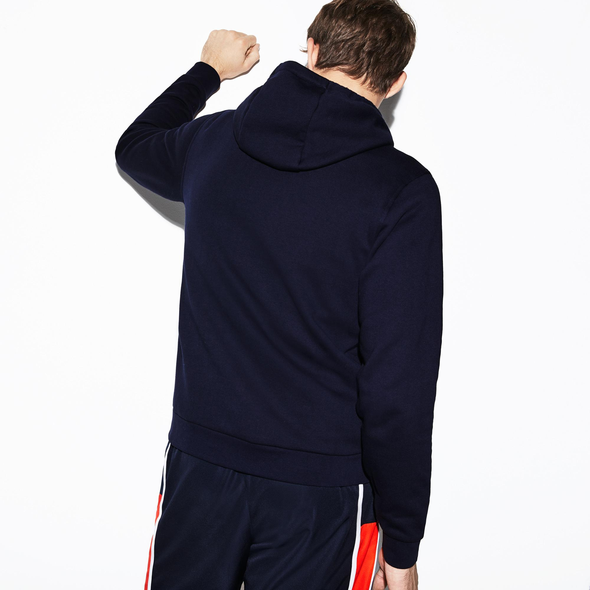 Lacoste Sport Men's Hooded Fleece Tennis SweatShirt