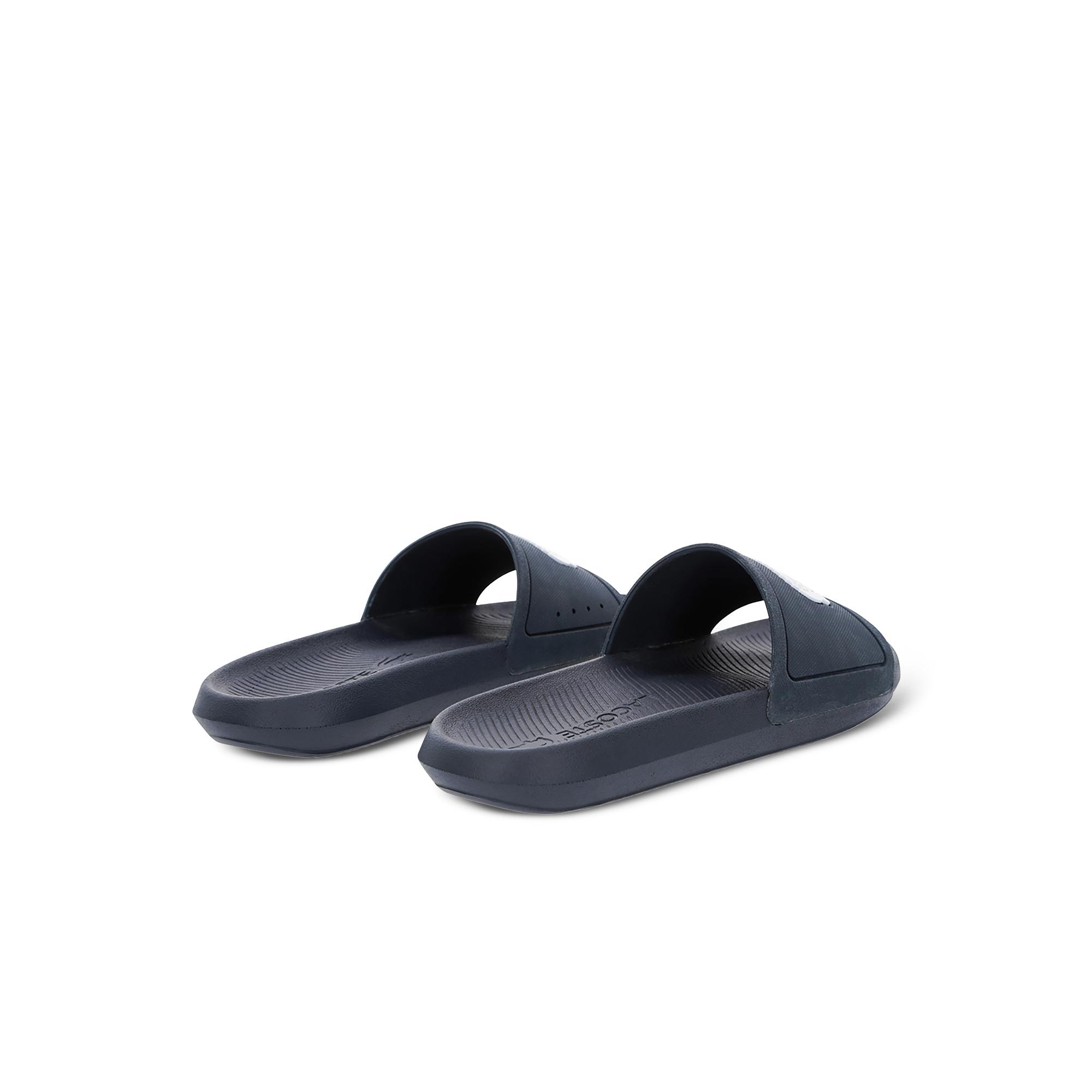 Lacoste Men's Croco Water-Repellent Synthetic Slides