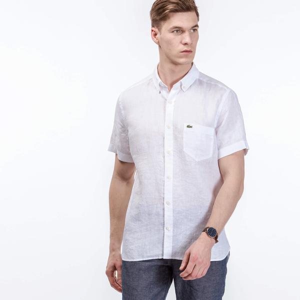 Lacoste Men's Regular Fit Linen Shirts