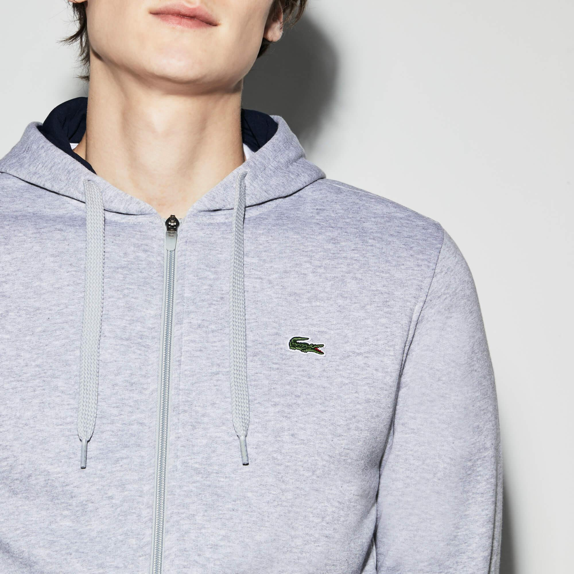 Lacoste Men's Sport Tennis Hooded Zippered Sweatshirt İn Fleece