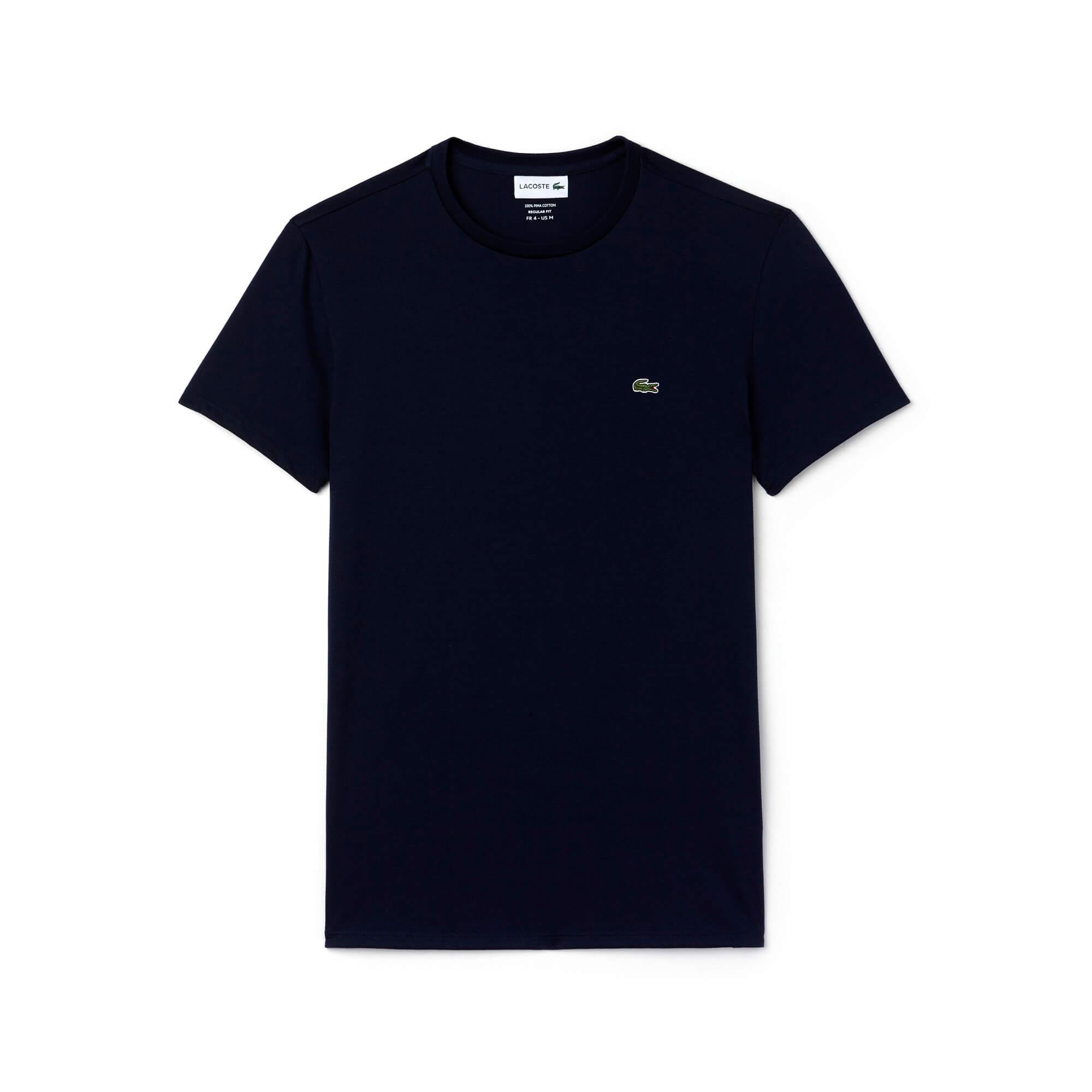 Lacoste Men's Crew Neck Pima Cotton Jersey T-Shirt