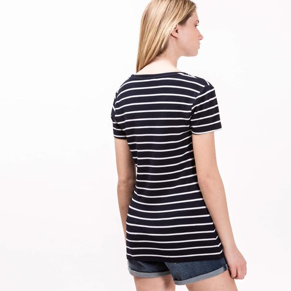 Women's Lacoste Round Neck Striped T-Shirt