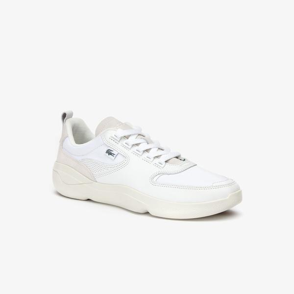 Men's White Lacoste Sneakers