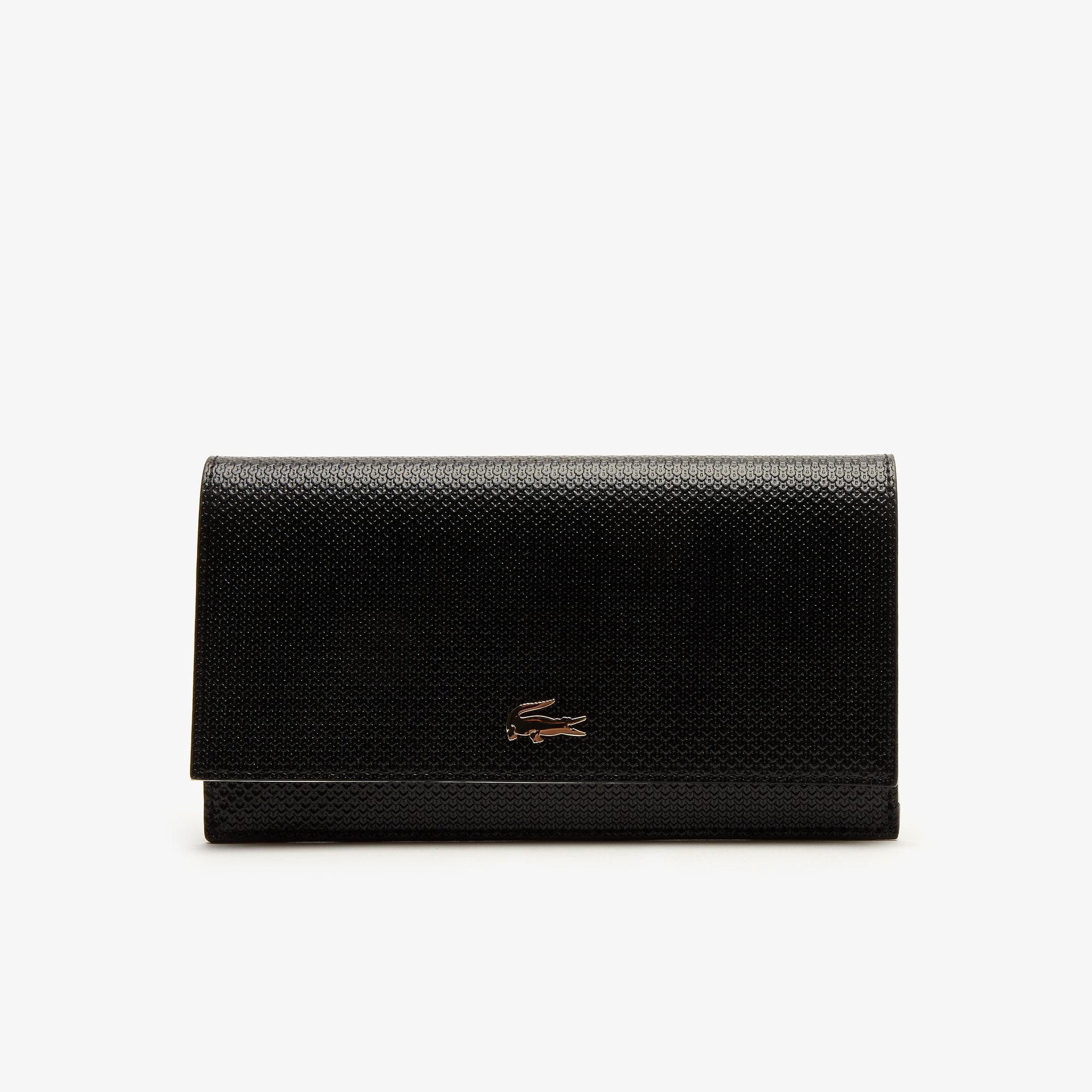 Lacoste Women's Chantaco Bicolour Piqué Leather 6 Card Wallet