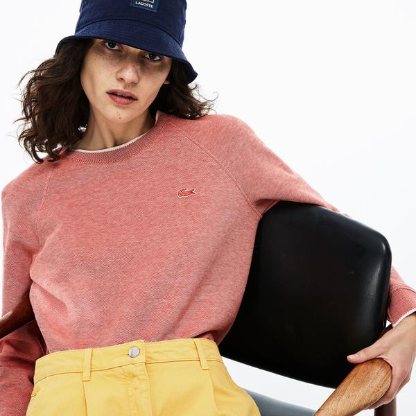 Lacoste Women's Boat Neck Striped Cotton Honeycomb Sweatshirts