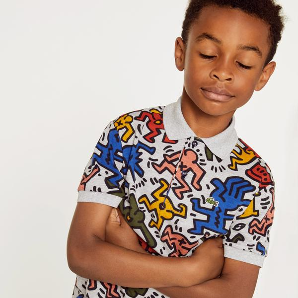 Lacoste Kids' Keith Haring Print Mini Piqué Polo