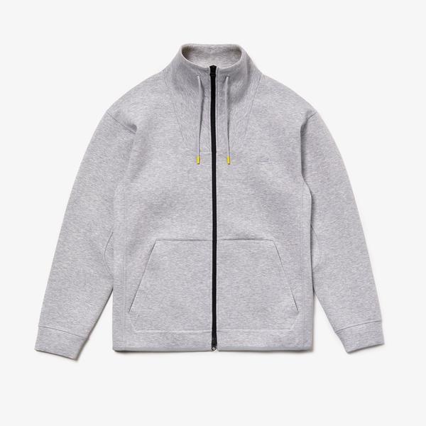 Lacoste Men's Motion Ergonomic Cotton Blend Zip Sweatshirt