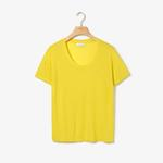 Lacoste Women's Motion Lightweight Ribbed Lyocell T-Shirt