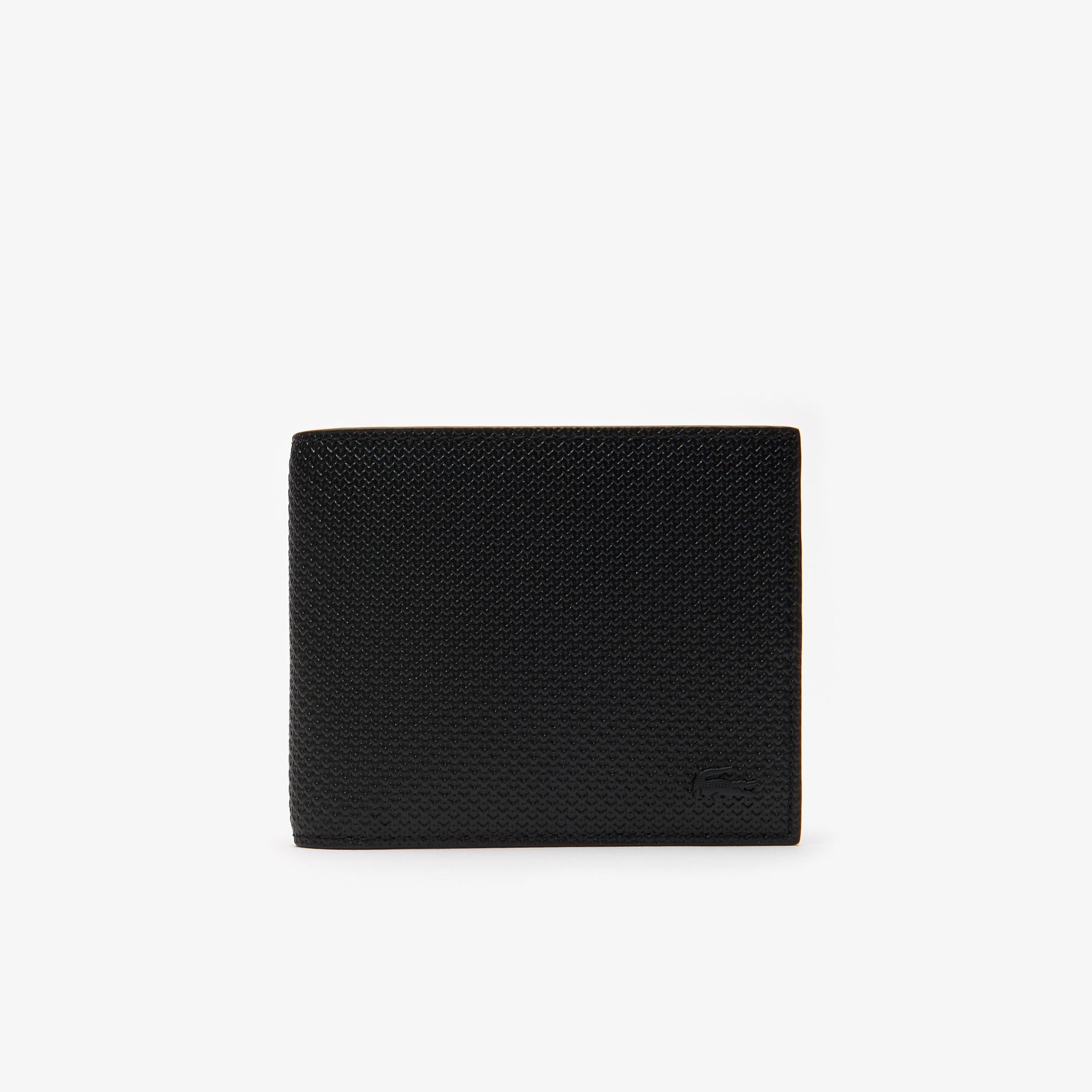 Lacoste Men's Chantaco Piqué Leather 8 Card Wallet