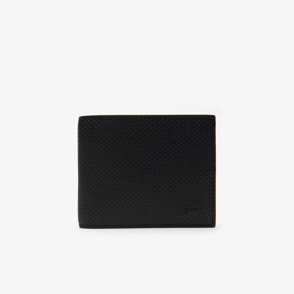 Lacoste Men's Chantaco Piqué Leather 8 Card Wallet