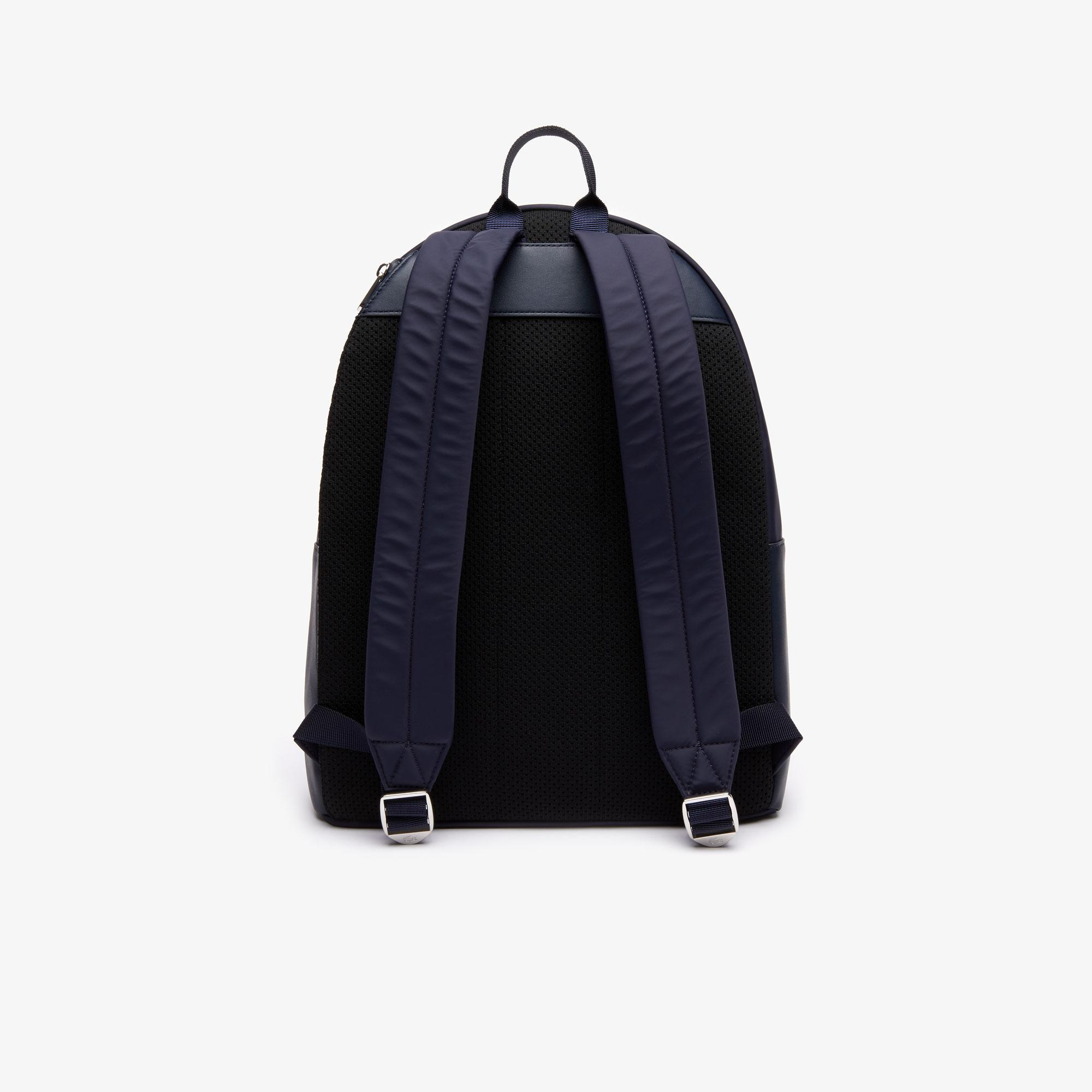 Lacoste Men's L.12.12 Signature Leather Zip Backpack