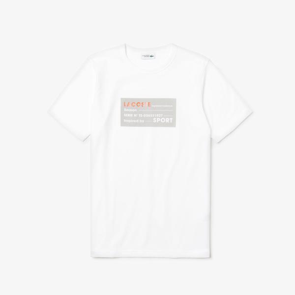 Lacoste Sport Men's 3D Print Cotton T-Shirt