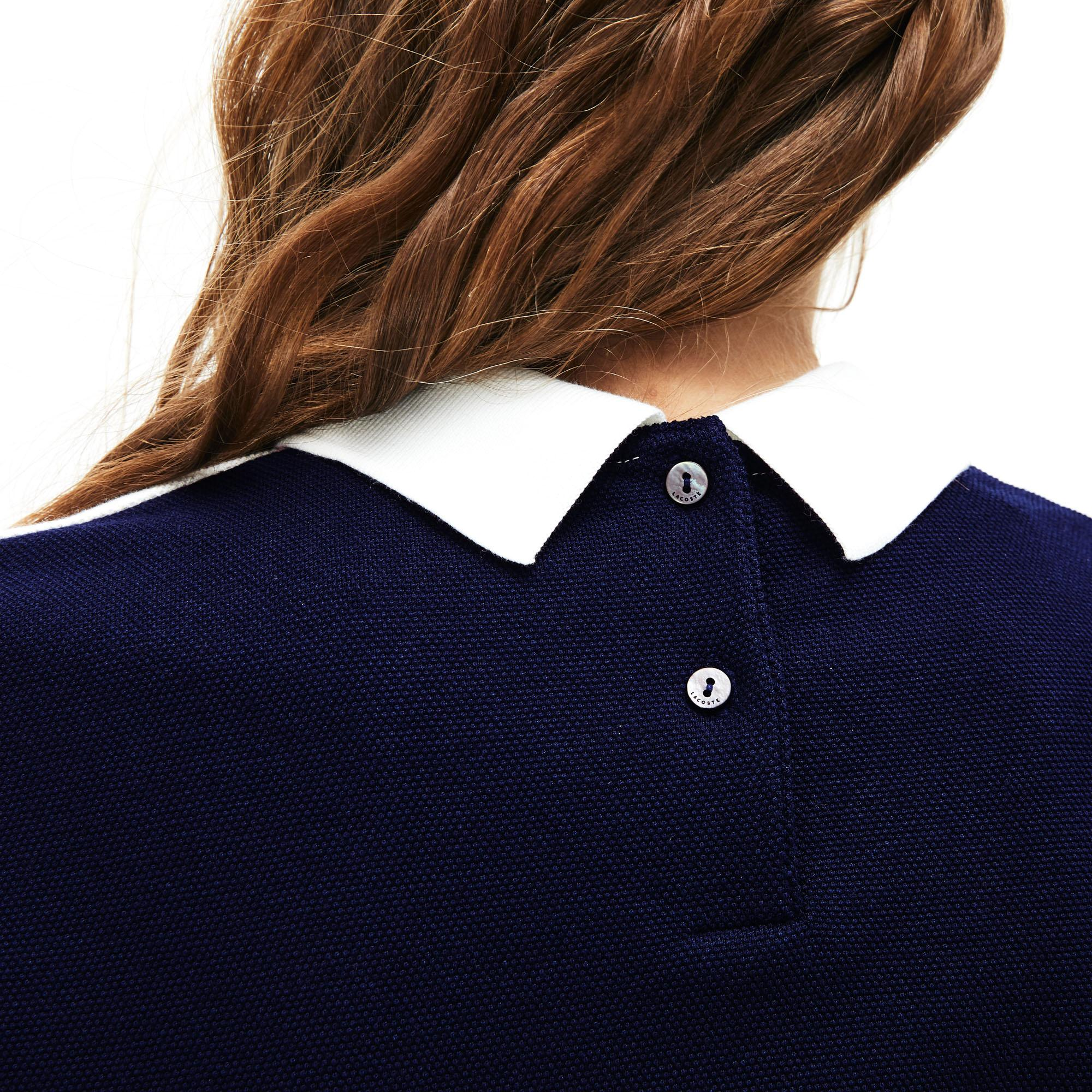 Lacoste Women's Made In France Jacquard Patterned Cotton Piqué Polo