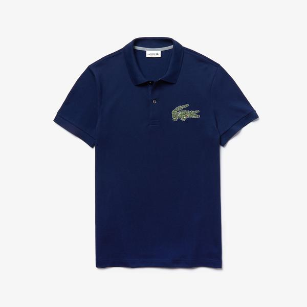 Lacoste Men's Regular Fit Multi Croc Badge Cotton Piqué Polo Shirt