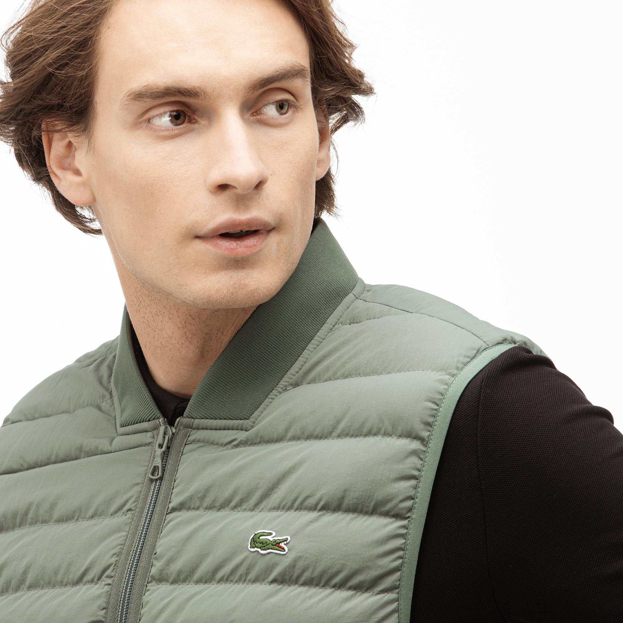 Lacoste Men's Combinable Collapsible Lightweight Quilted Zip Vest