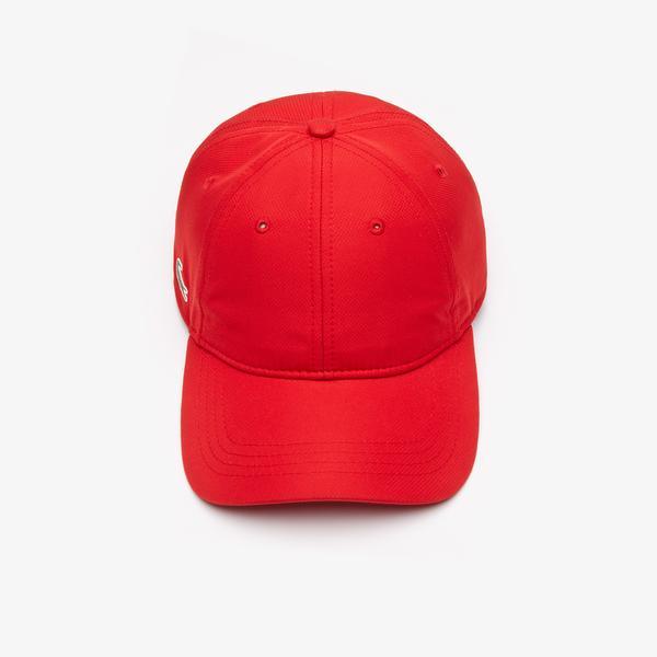 Lacoste Men's SPORT cap in solid diamond weave taffeta