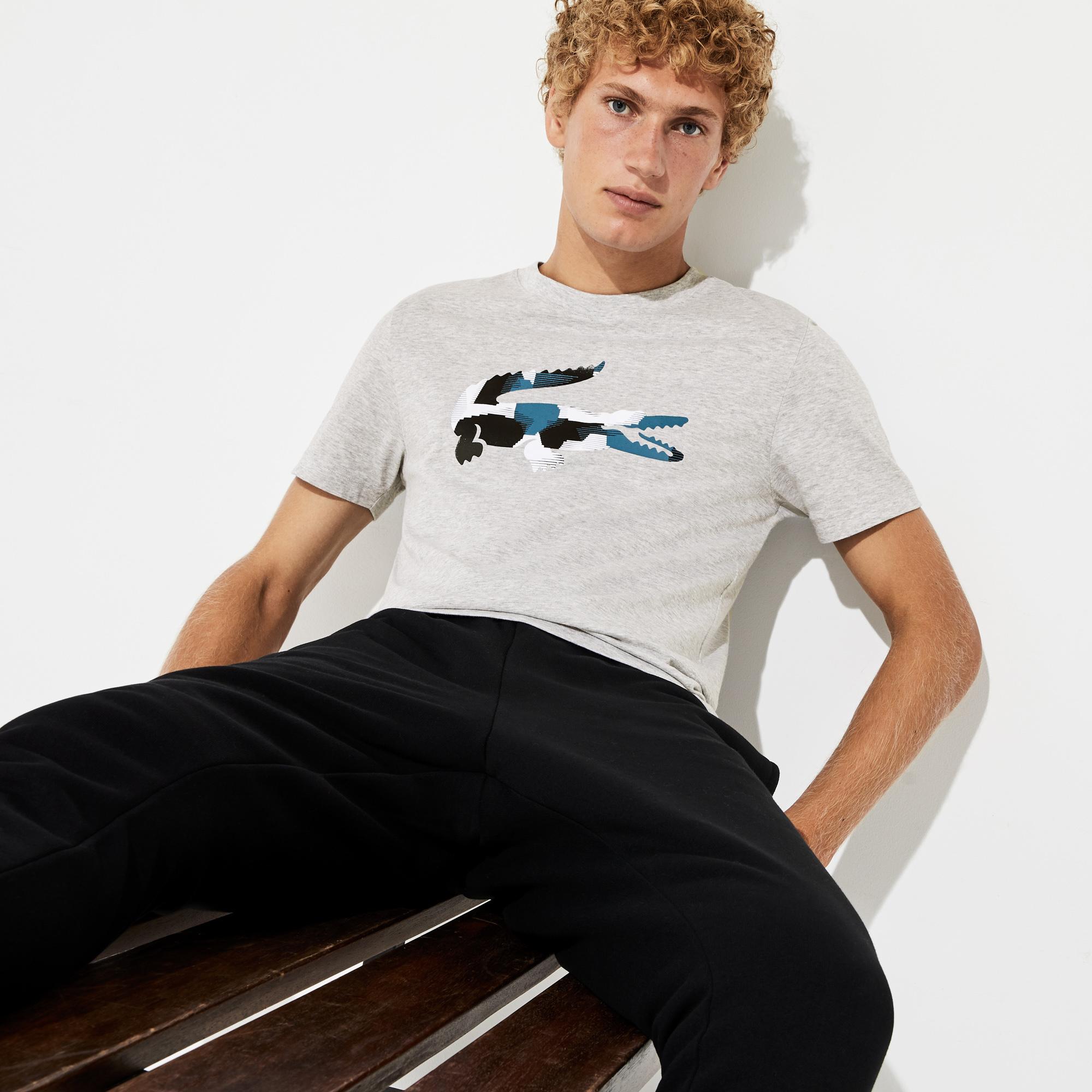 Lacoste Sport Men's Camouflage Print Crocodile Jersey T-Shirt