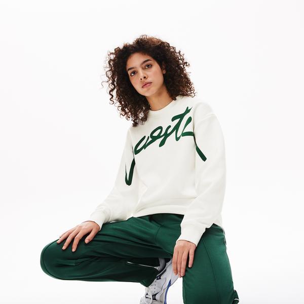 Lacoste L!VE Unisex Signature Texturized Fleece Sweatshirt