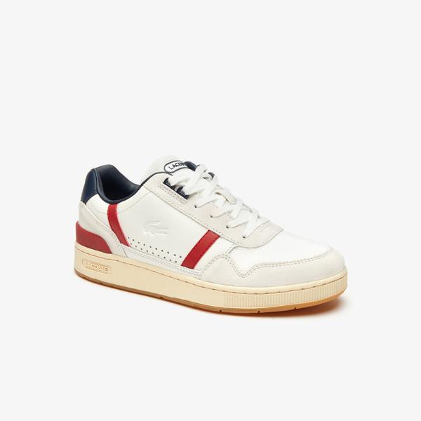 Men's Lacoste T-Clip Evo 120 2 Us Sma Leather Sneakers