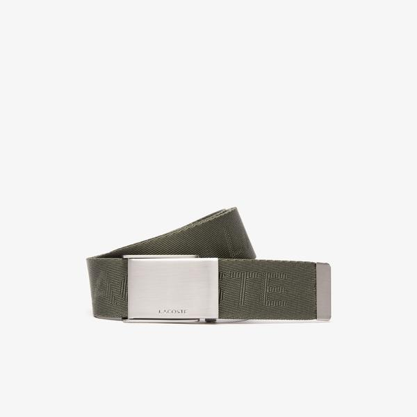 Lacoste Men's Embossed Two Woven Belts Gift Set