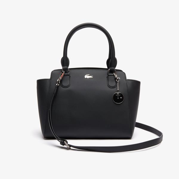 Lacoste Women's Daily Classic Gusseted Coated Piqué Canvas Tote