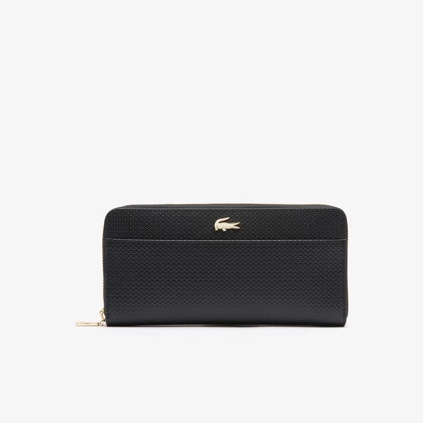 Lacoste Women's Chantaco Piqué Leather 12 Card Zip Wallet