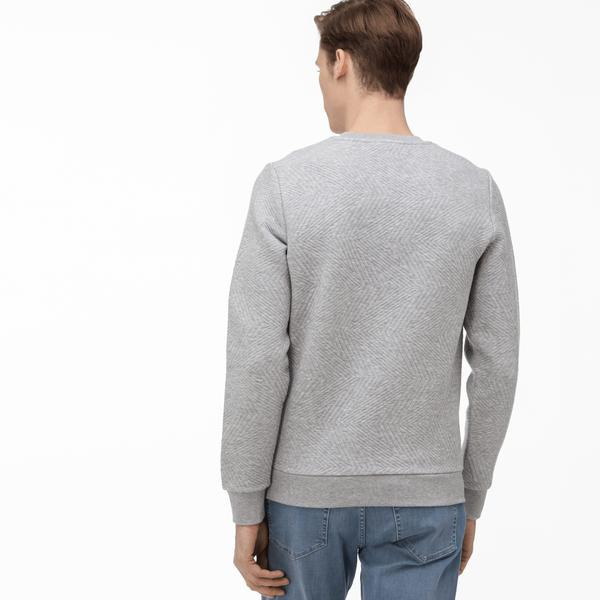 Lacoste Men's Round Neck Quilted Sweater