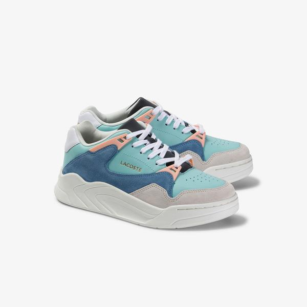 Lacoste Women's Court Slam Leather And Suede Sneakers