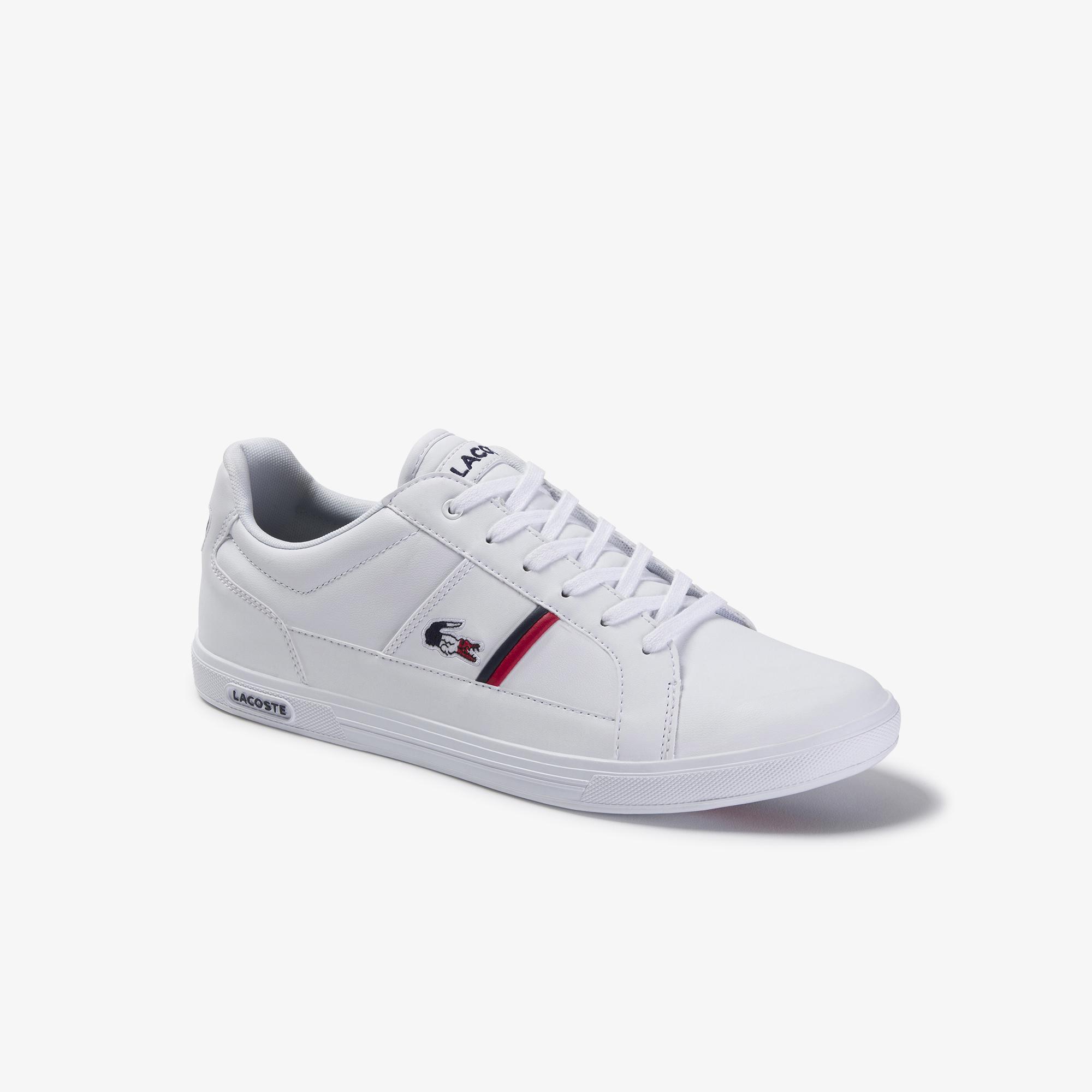 Lacoste Men's Europa Tricolour Leather Sneakers