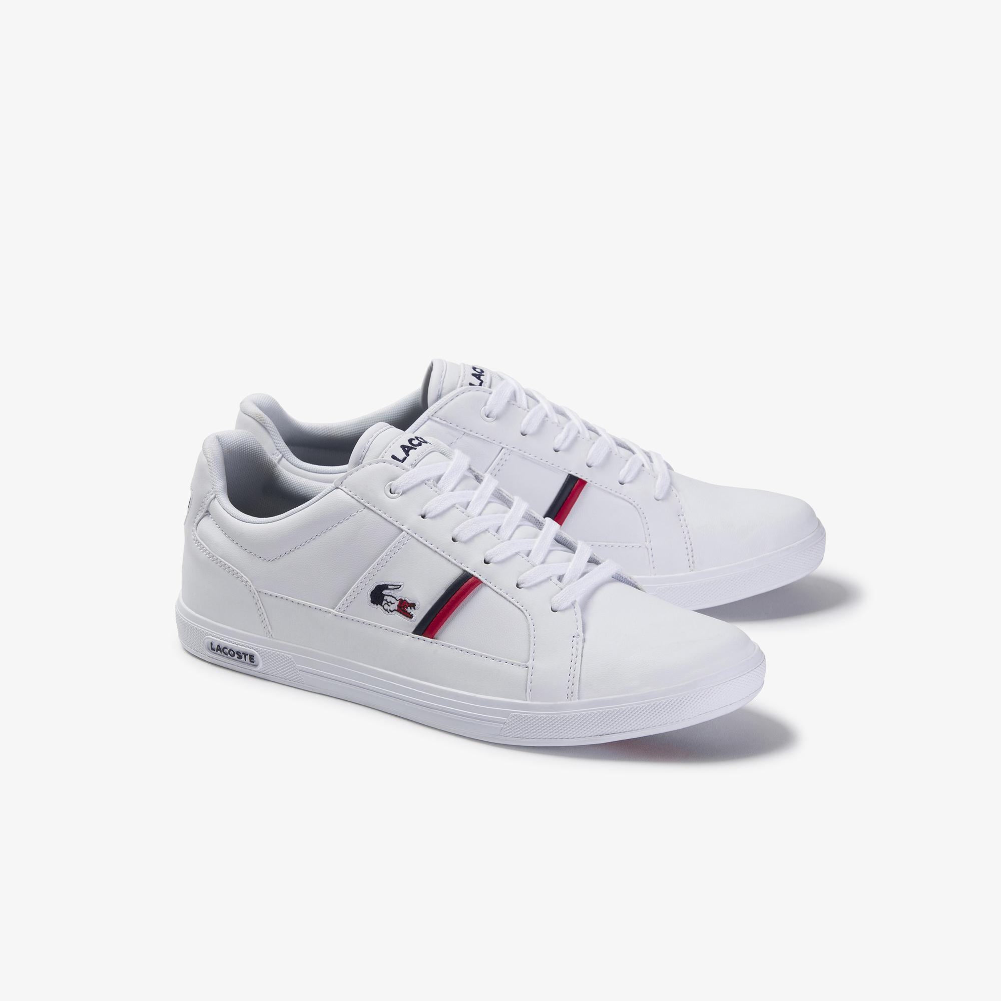 Lacoste Men's Europa Tricolour Leather Sneakers