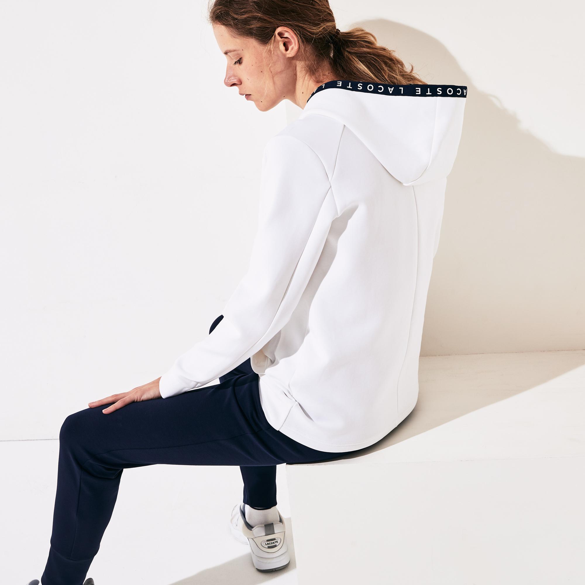 Lacoste Women's SPORT Signature Hooded Tennis Sweatshirt