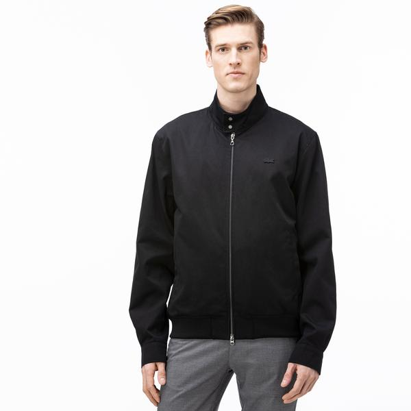 Lacoste Men's Lightweight Cotton Zip Harrington Jacket