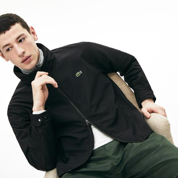 Lacoste Men's Lightweight Water-Resistant Zip Windbreaker