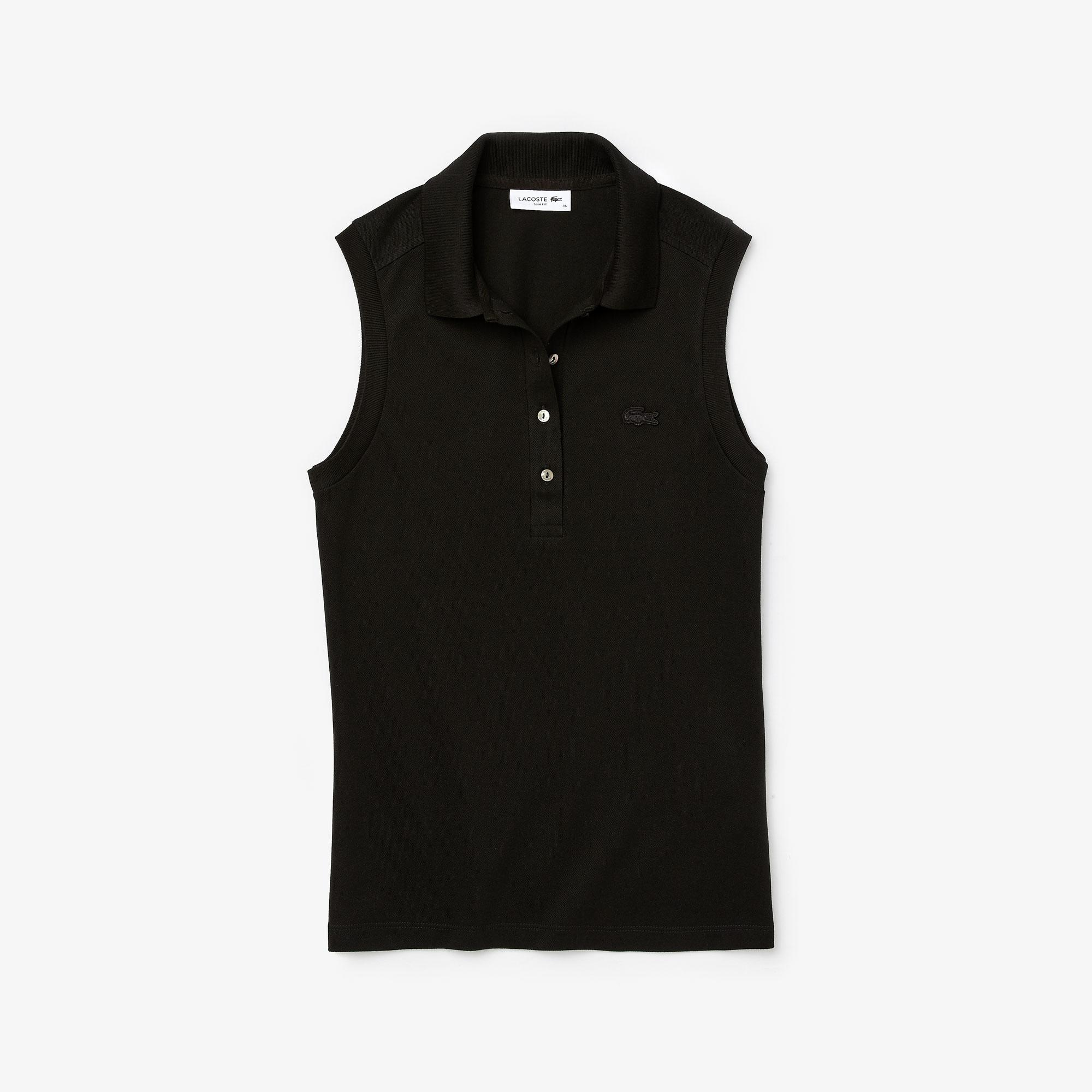 Lacoste Women's Sleeveless Cotton Piqué Polo